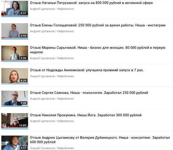 Андрей Цыганков отзывы