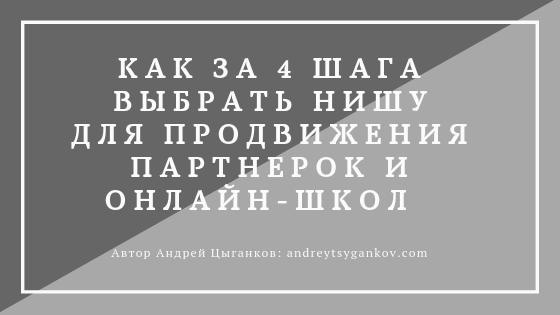 как за 4 шага выбрать нишу для продвижения партнерок