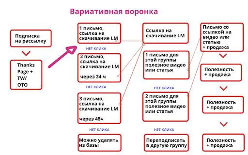 схема вариативной автоворонки